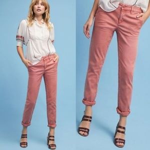 Anthropologie Side Striped Salmon Relaxed Chino